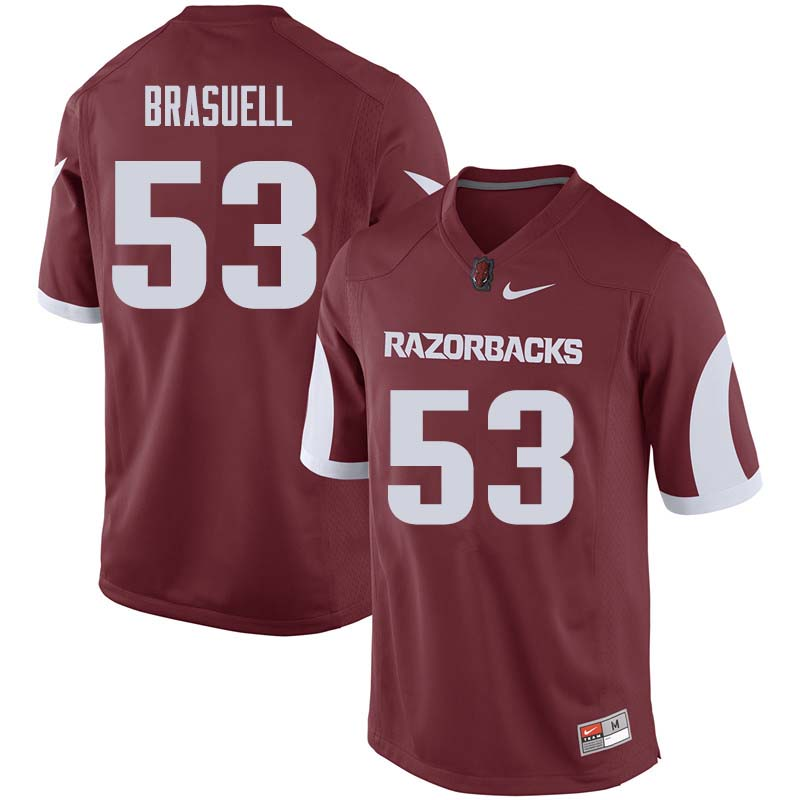Men #53 Ben Brasuell Arkansas Razorback College Football Jerseys Sale-Cardinal