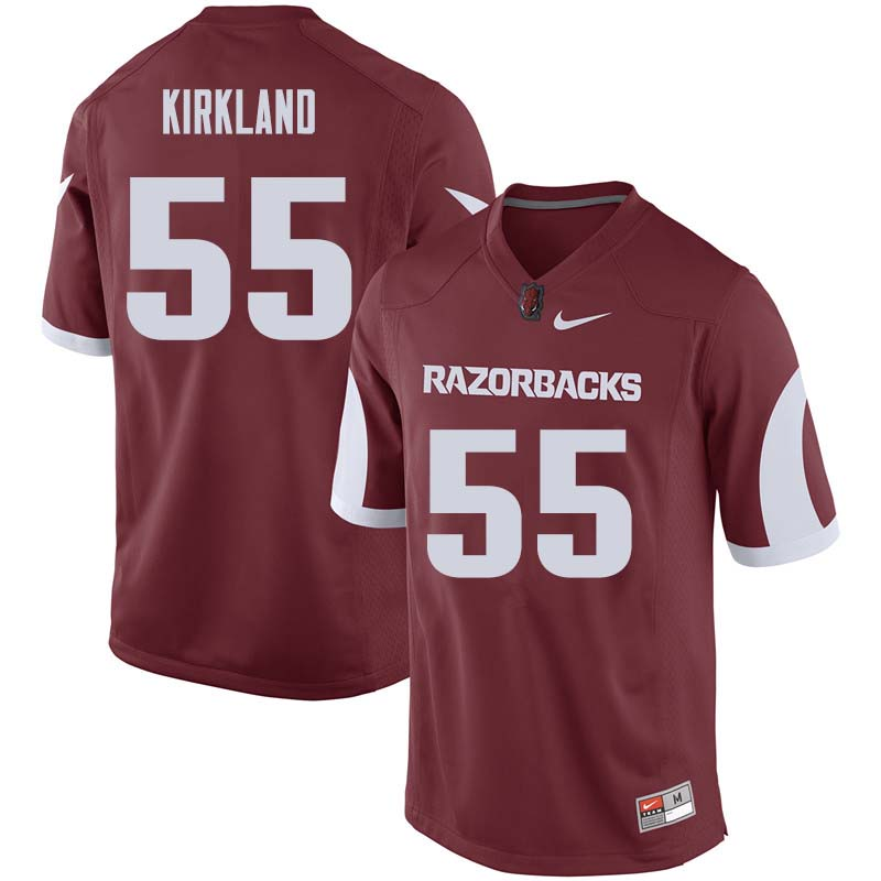 Men #55 Denver Kirkland Arkansas Razorback College Football Jerseys Sale-Cardinal