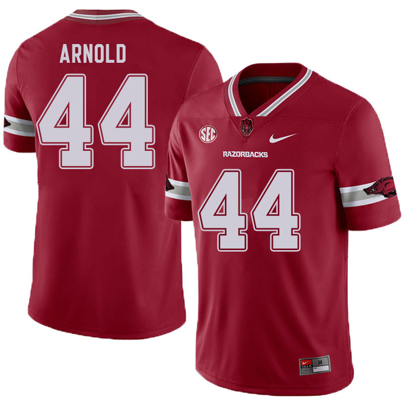 Men #44 Jermarcus Arnold Arkansas Razorbacks College Football Jerseys Sale-Alternate