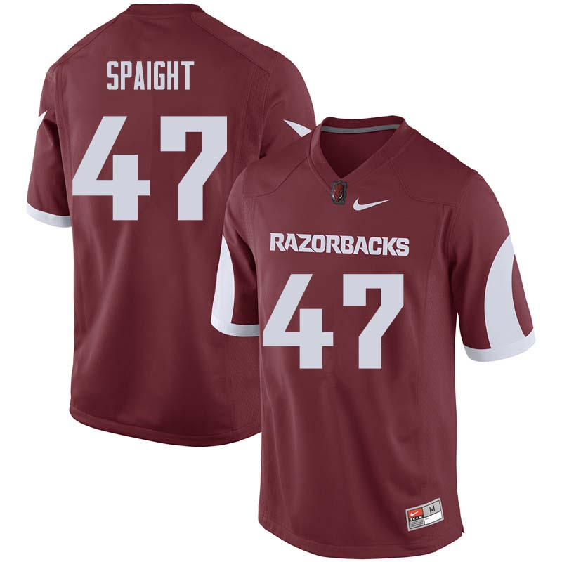 Men #47 Martrell Spaight Arkansas Razorback College Football Jerseys Sale-Cardinal
