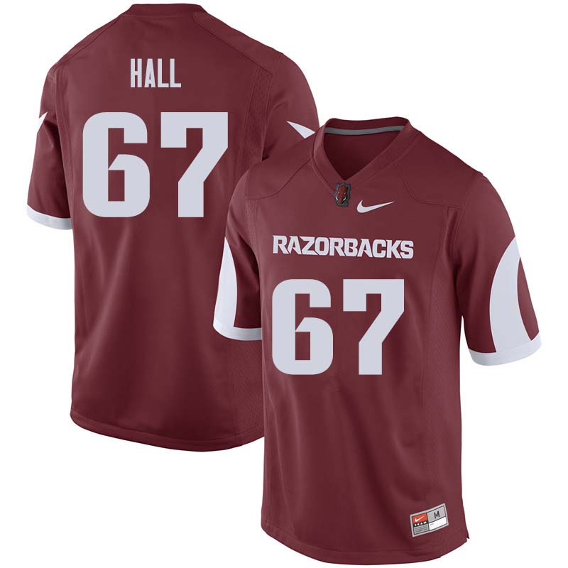 Men #67 Tyler Hall Arkansas Razorback College Football Jerseys Sale-Cardinal